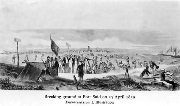 Breaking ground at Port Said